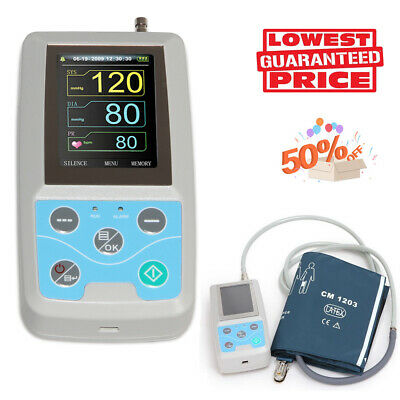 Ambulatory Blood Pressure Monitor NIBP Holter USB Software 24 Hour Record ABPM50
