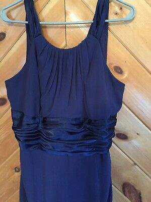 5675a9fc89ae Davids Bridal Style F12732 Navy Blue Bridesmaid Party Dress Empire Waist  Size 18