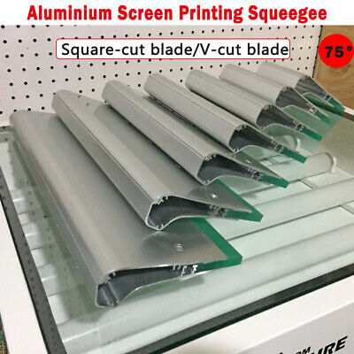 Aluminium Screen Printing Squeegee Hardness 75 -10cm 15cm 20cm 30cm Choose Blade