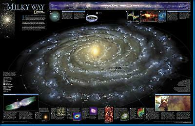 "Milky Way Reference Galaxy Image Poster 16""x24"""