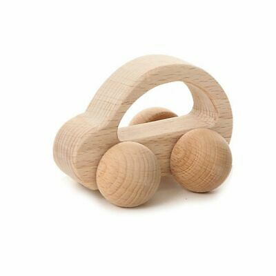 Natural Wooden Baby Rattle Clutching Development Teething Toy Car Infant