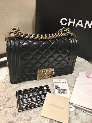 d2d91baca205 AUTH CHANEL SPRING 2018 Rainbow Small Quilted Caviar Le Boy Bag ...