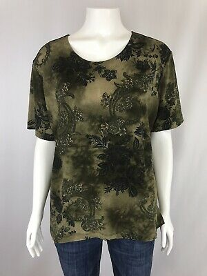 a3443c1b Market by Chicos Womens Shirt Size 2 Large Short Sleeve Slinky Top Blouse