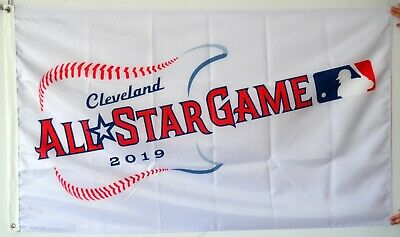 Cleveland All Star Game 2019 Flag MLB Giutar  3x5ft White Banner US Shipper