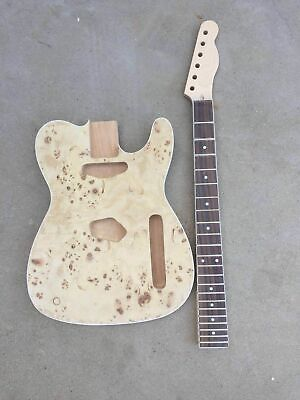 DIY Unfinished Guitar Neck and body for TELE style guitar kit