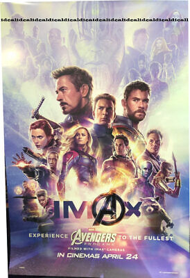 Avengers 4 ENDGAME ORIGINAL DS 27x40 POSTER 1sheet int'l double sided Imax SALE
