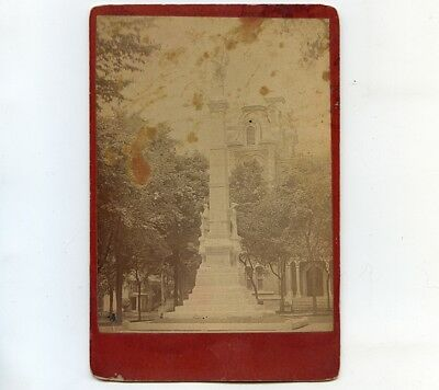 c1891 Cab Card Photo of  Soldiers' Monument, Oswego, NY