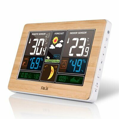 Color Screen Weather Clock Temperature And Humidity Meter Led Screen Alarm D2