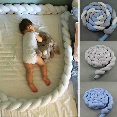 Braided Twisted Strips Children Creative Knotted Bed Protective Fence EA9