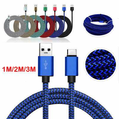 USB-C Type-C Fast Charging Data Sync Charger Cable For Samsung Galaxy S8 S9+ Sw