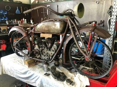 Indian 1924 Scout Project Motorcycle