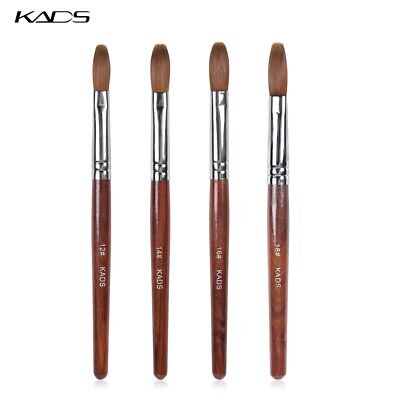 KADS Kolinsky Acrylic Nail Brush Crimped Round Head For Manicure Powder Tool