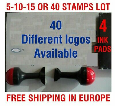 5 TO 30 PLASTIC Rubber STAMPS SPECIALIST SERVICE GARAGE Car APPROVED INK PADS