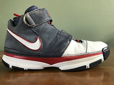 on sale fc8ff f09ab 2007 Nike Zoom Kobe II 2 ST Strength USA Olympics White Blue Red Size 12
