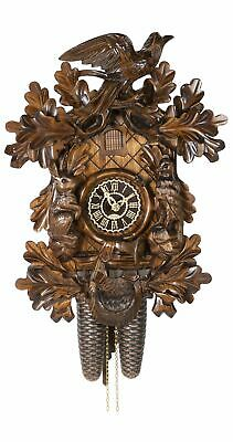 Cuckoo Clock Hunting clock, 8 day running time, walnut TU 8365/4 nu NEW