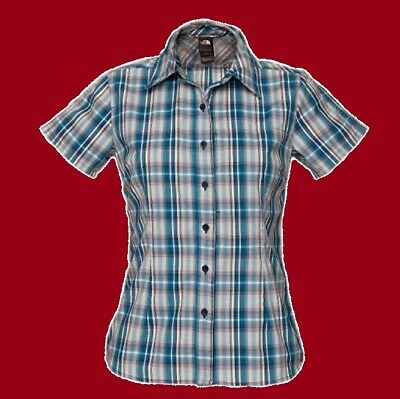 THE NORTH FACE. Damen Frauen Bluse Hemd Shirt PENELOPE WOVEN LADY, blau karo, M