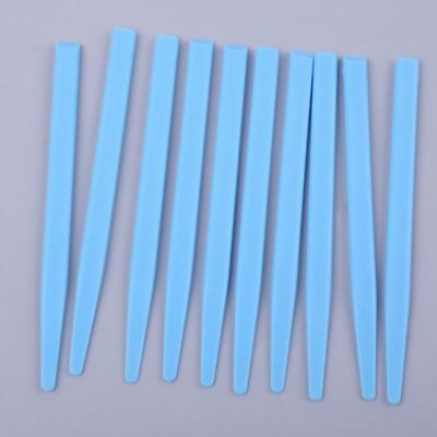 Blue Plastic Dental Mixing Plaster Spatula Alginate Stick Tool Instrument 10 Pcs