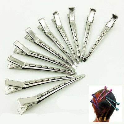 12Pcs/Set Metal Duck Mouth Clips Hair Salon Hairdressing Clamps Styling Tools