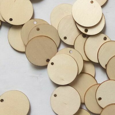 50X Unfinished Wooden Round Discs Engagement Party DIY Rustic Art Crafts 30-50mm