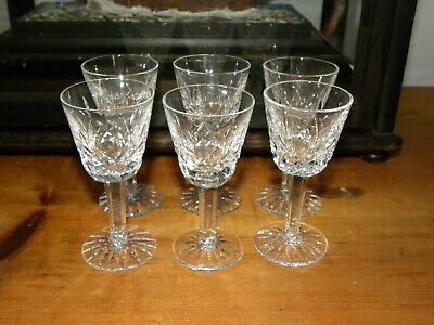 Set of 6  Boxed Waterford Crystal LISMORE  Liqueur/ Cordial Glasses 600/318