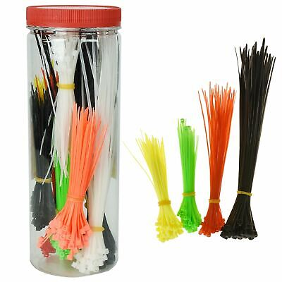 500pcs Assorted Cable Ties Zip Tie Self Locking Handy Storage Tube Wire Tidy
