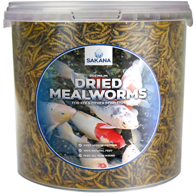 Sakana High Protein Dried Mealworms Energy Filled Premium Fish Food Feed In Tubs