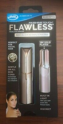JML Finishing Touch Flawless Discreet Facial Hair Remover. Blush Edition. New.