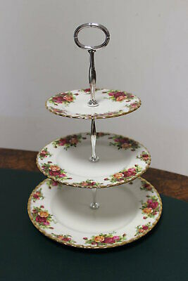 Old Country Roses 3-Tier Cake Stand, Royal Albert