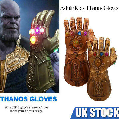 NEW Avenge Infinity War Gauntlet LED Cosplay Thanos Gloves Prop Gift UK STOCK