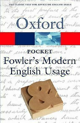 Pocket Fowler's Modern English Usage by Allen, Robert