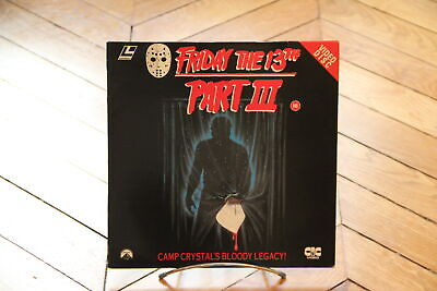 Friday the 13th Part III  Laserdisc LD NTSC