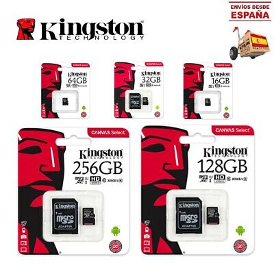 Tarjeta de memoria Kingston Micro SD SDHC Clase 10 - 16 GB / 32GB / 64GB / 128GB