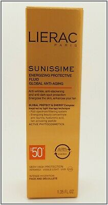 Lierac Sunissime face energizing protective fluid global anti-aging SPF50 40ML