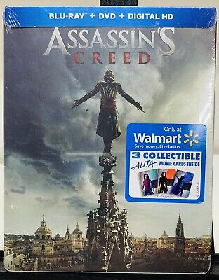 Assassins Creed Steelbook Blu Ray + Digital +Collectible Movie Cards