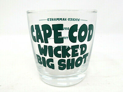 Cape Cod Wicked Big Shot Glass Large Oversized Boston 6 oz Holds 4 Shots VGUC