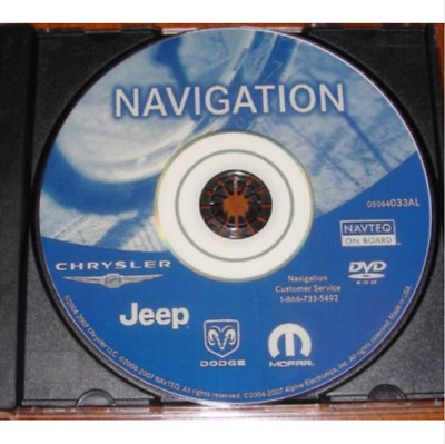 Chrysler Dodge Jeep REC RB1 GPS Navigation Map Update DVD Disc - ver 05064033AL