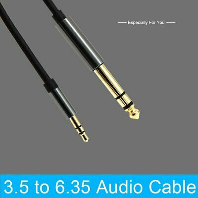 "1.5m 3.5mm 1/8"" Male to 6.35mm 1/4"" Male TRS Stereo Audio AUX Cable PC iPod GP"