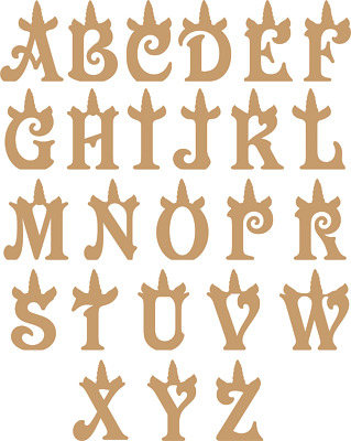 FREESTANDING UNICORN LETTERS and Numbers MDF Wood Craft Blanks - Victorian  Font