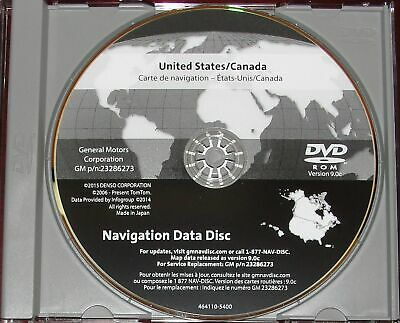 2016 GM North America Navigation DVD Map Update GM p/n: 23286273 9.0C V.2016 GPS