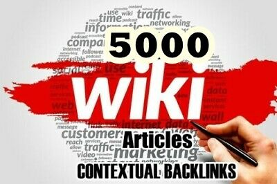 Contextual Wiki Backlinks from 3000 Wiki Articles - SEO - Google Ranking