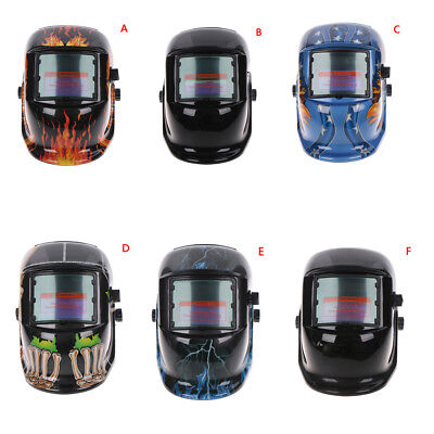 Solar Powered Auto Darkening Welding Helmet Arc Tig Mig Grinding Welder Mask FG