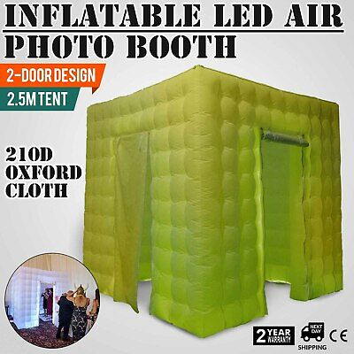 2 Door Inflatable LED Air Pump Photo Booth Tent Portable Colorful Oxford Fabric
