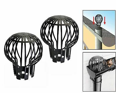 2pc Down Pipe Filter Guard Downpipe Gutter Balloon Leaf Debris Blockage Cloggs