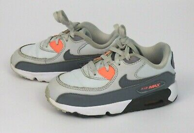 best sneakers b36b4 f5ad3 Nike Air Max 90 LTR TD833379-006 Sz 9C Toddler Pure Platinum Cool Grey White