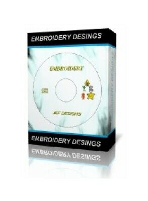 New 972 Cartoon Machine Embroidery Designs Cd / Dvd Janome Jef Format
