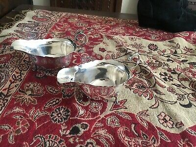 Solid Silver Sauce Boats