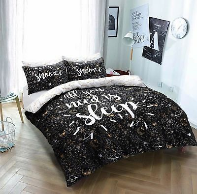 Sleep Slogan Star Luxury Duvet Covers With Pillow Cases / Complete Quilt Set