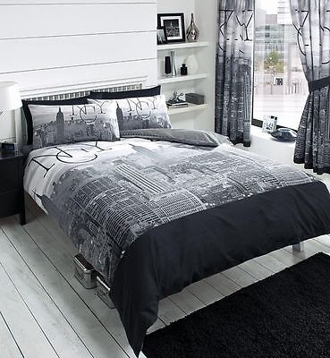 New York Luxurious Duvet Cover With Pillow Case Quilt Cover Bedding Set All Size