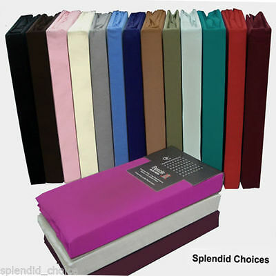 """Non-Iron Percale Extra Deep Fitted Sheet 40 cm / 16"""" OR 10"""" Pair Of Pillow Cases"""