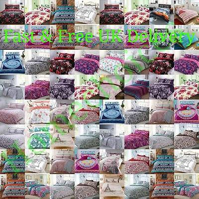 Duvet Cover with Pillow Case Quilt Cover Bedding Set Double King Single All Size